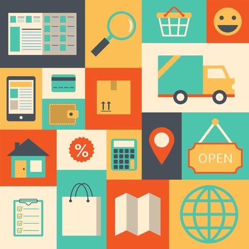 Gestaltungselemente für Online-Supermarkt vektor