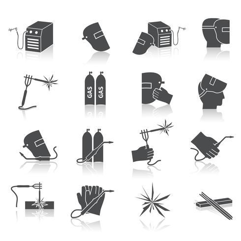 Schweißer Icons Set vektor
