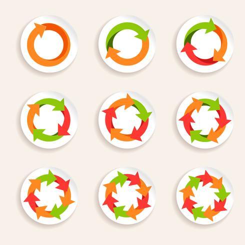 Cirkelpilikon vektor