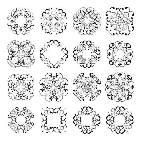 Sammlungen von ornamentalen Spitzen-Designs vektor