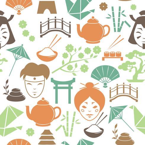 Seamless japansk mönster bakgrund vektor
