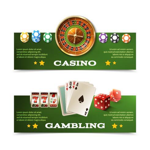 kasinobanners vektor