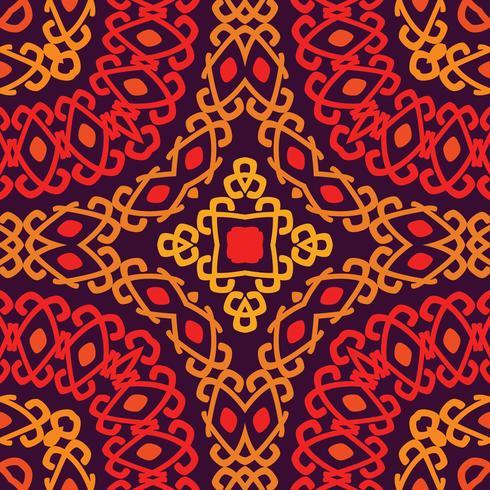 Buntes Stammes- ethnisches nahtloses Muster. vektor
