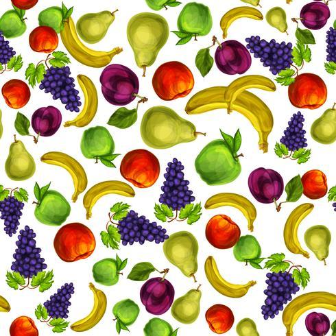 Nahtloser Mischfruchtmusterhintergrund vektor