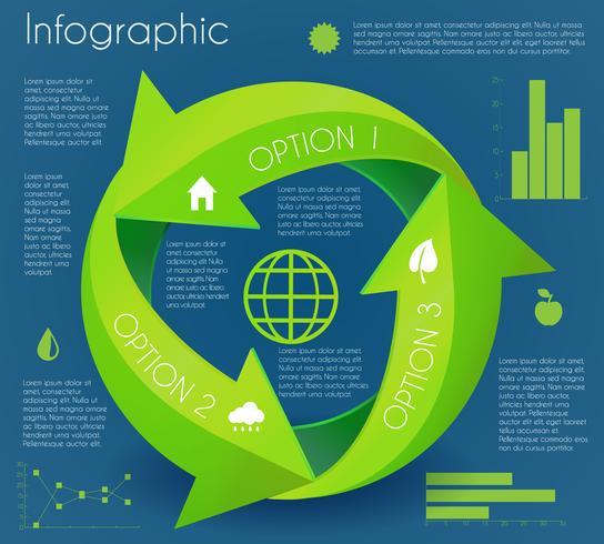 pil infografisk miljö cirkel vektor