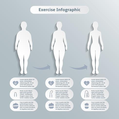 Infographik Elemente für Frauen Fitness vektor