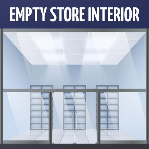 Leerer Ladeninnenraum vektor