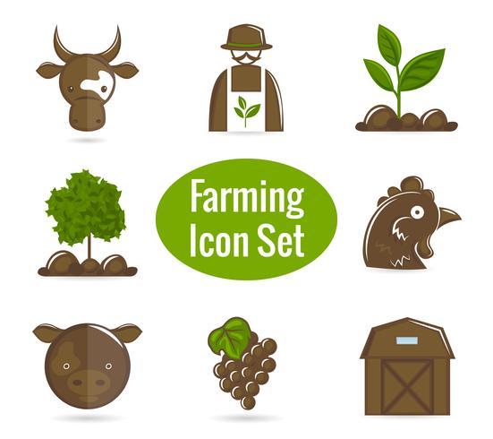 Landwirtschafts-Icon-Set vektor