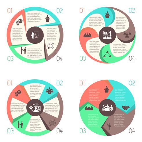 Treffen Sie Menschen online Infografik Piktogramme festgelegt vektor