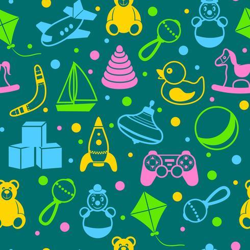 Leksaker sömlöst mönster vektor