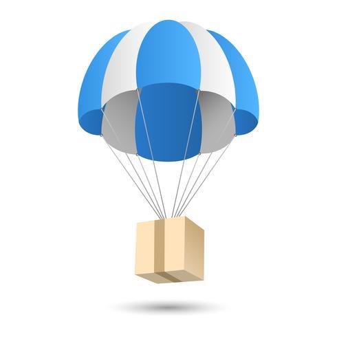 Parachute presentförpackningskoncept vektor