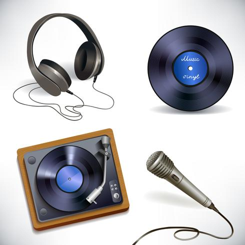 Musikausrüstung eingestellt vektor