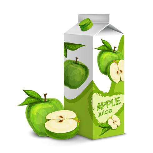 Saftpackung Apfel vektor