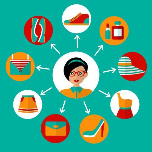 Online-Shopping-Symbole vektor