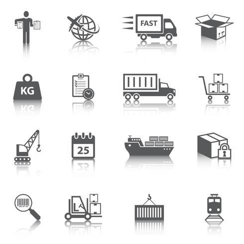 Logistische Icons Set vektor