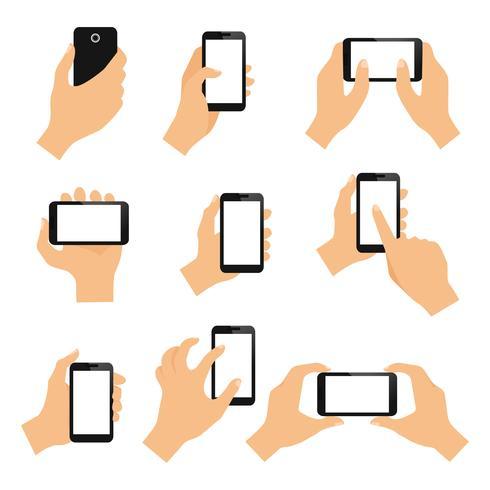 Handskärmar på pekskärmen vektor