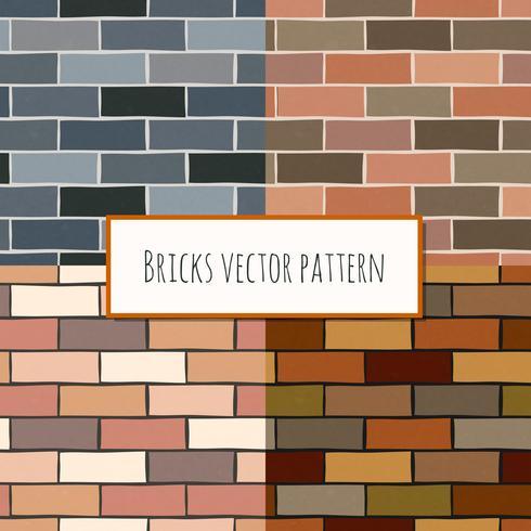 Seamless tegelvägg rektangulärt mönster vektor