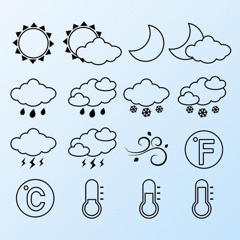 Wetterikonen eingestellt vektor