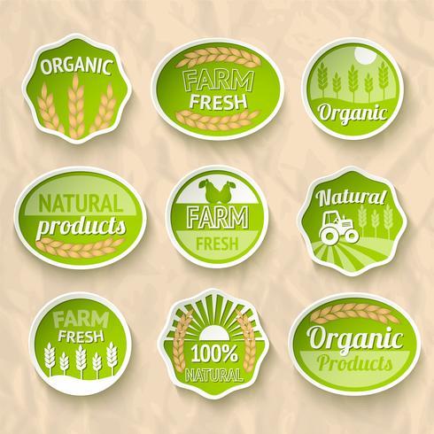 Landwirtschaft Ernte und Landwirtschaft Aufkleber vektor