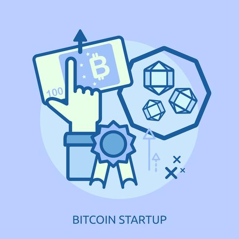 Euro Startup Konceptuell illustration Design vektor
