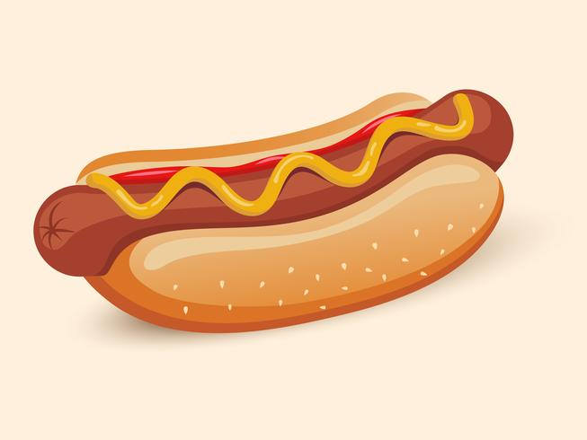 Amerikanisches Hotdog-Sandwich vektor