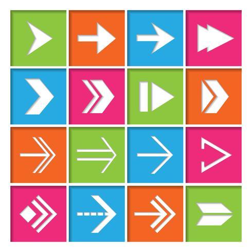 Pfeilsymbole Icons Set vektor