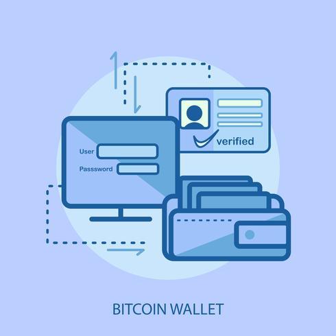 Bitcoin Wallet Konseptuell illustration Design vektor
