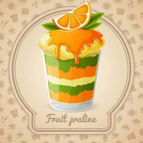 Frukt praline emblem vektor