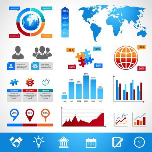Business Infographics layout designelement vektor