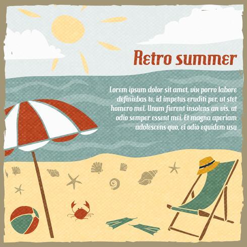 Sommerferienhintergrund Retro vektor