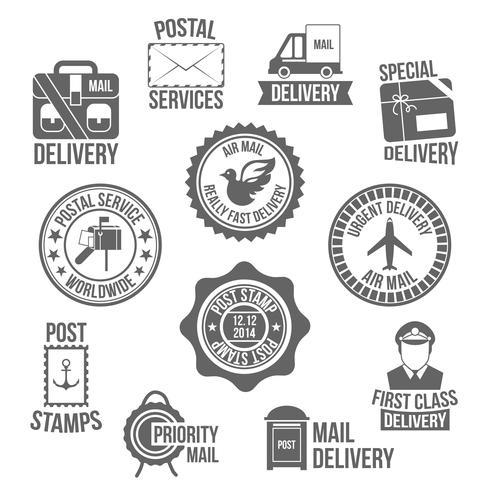 Post service etikett vektor