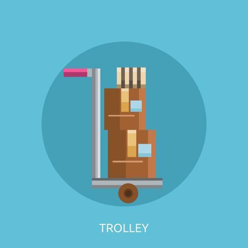 Trolley konzeptionelle Abbildung Design vektor