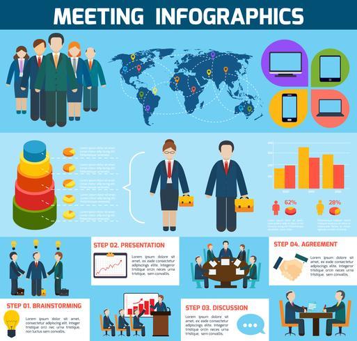 Affärsmöte infographics vektor