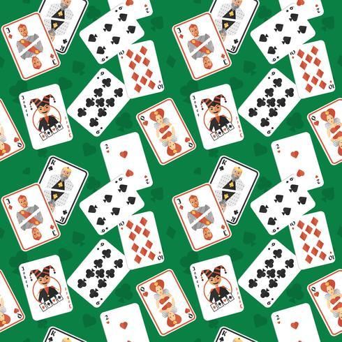 Nahtloses Muster der Spielkarten vektor