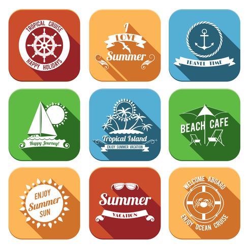Sommer Icons Set vektor