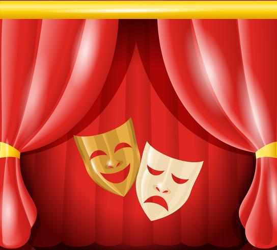 Theatermasken Hintergrund vektor