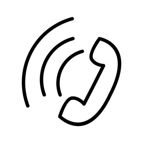 Vektor-Symbol für aktiven Anruf vektor