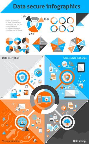 Datensichere Infografiken vektor