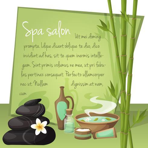 Spa-Salon-Hintergrund vektor
