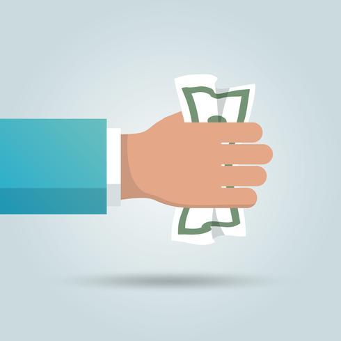 Dollar i handaffisch vektor