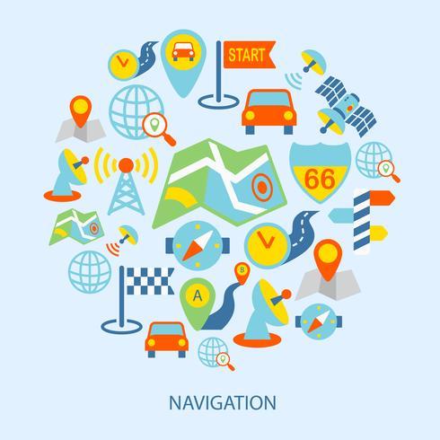 Mobile Navigationssymbole flach vektor