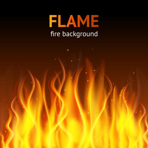 Flamme dunklen Hintergrund vektor