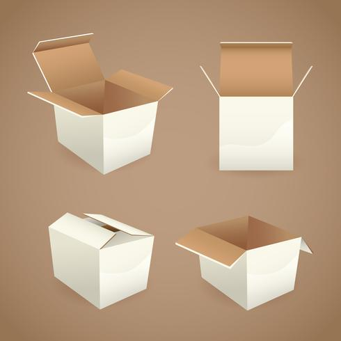 Box och paket ikoner vektor