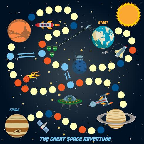 Space Quest Spiel vektor