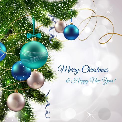 Frohe Weihnachten Postkarte vektor