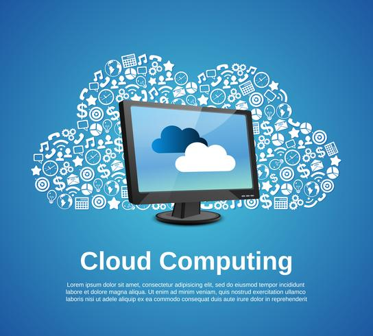 Cloud-Computing-Konzept vektor