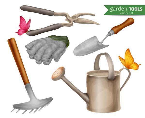 Gartengeräte eingestellt vektor