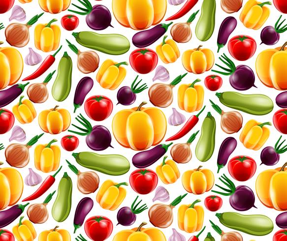 Gemüse nahtlose Muster vektor