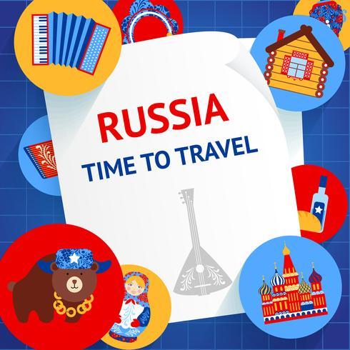 Rysslands bakgrundsmall vektor