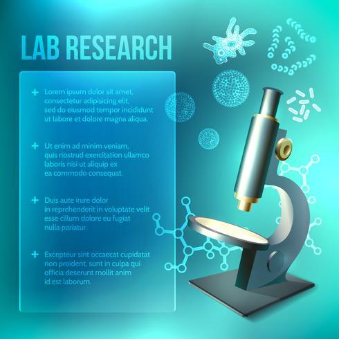 Bakterier och viruslaboratorier vektor